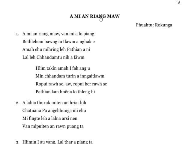 A Mi An Riang maw