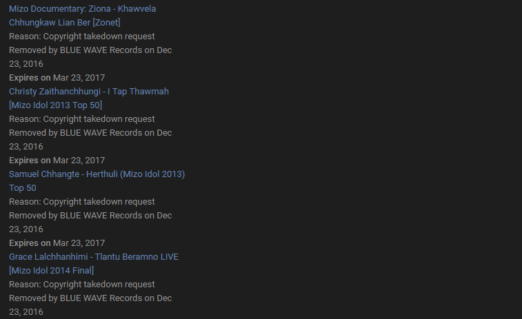 all mizo Youtube Channel Dinhmun
